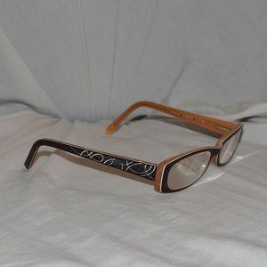 Vintage Express Rx Glasses Salmon/Black/White